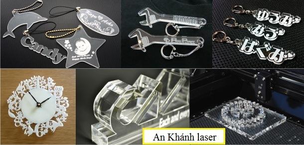 khắc móc chìa khóa mica