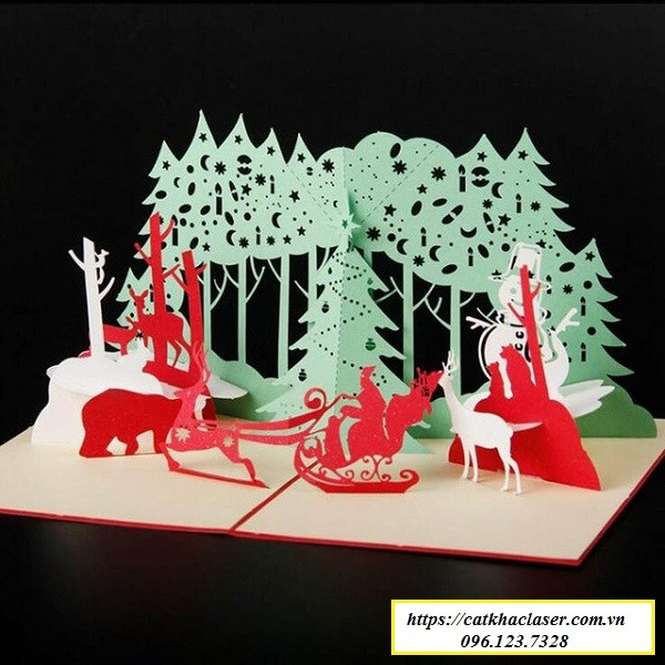 Khắc cắt giấy 3D-khắc thiệp
