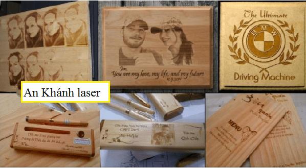 Khắc laser trên gỗ