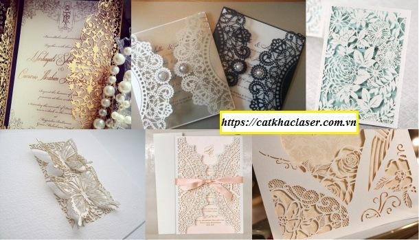 Một số mẫu thiệp khắc cắt giấy 3D
