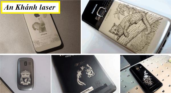 Khắc laser trên vỏ điện thoại