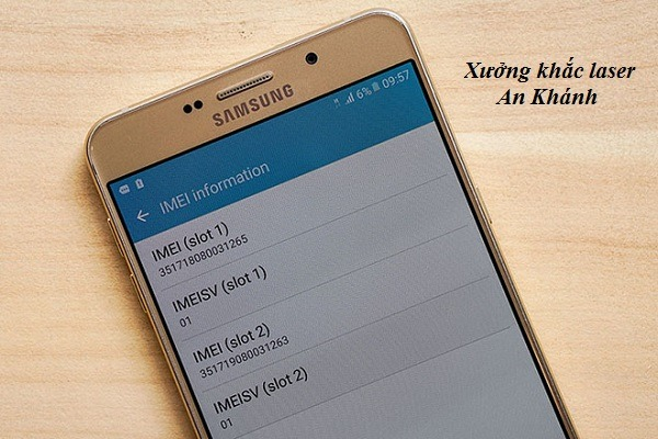 Kiểm tra số imei trước khi khắc imei Samsung
