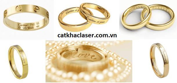 Khắc tên lên nhẫn vàng