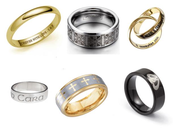 Nhẫn khắc tên theo yêu cầu