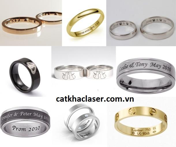 Khắc tên lên nhẫn cưới