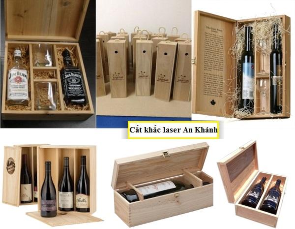 Làm hộp gỗ rượu theo yêu cầu