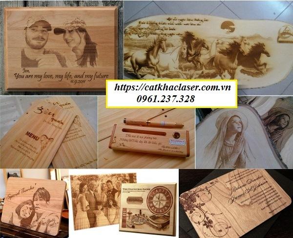 Các sản phẩm khắc ảnh lên gỗ