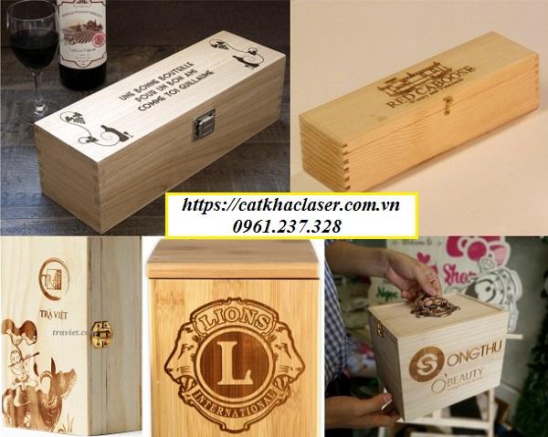 Khắc chữ lên hộp gỗ giá rẻ