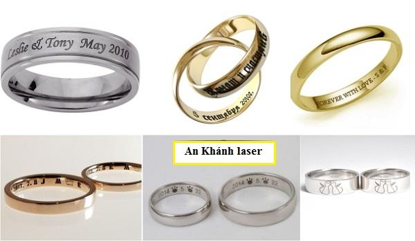 Khắc tên lên nhẫn cưới theo yêu cầu