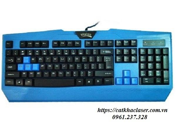 Khắc laser trên nhựa trên bàn phím laptop