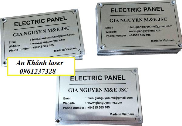 Khắc logo trên kim loại theo yêu cầu