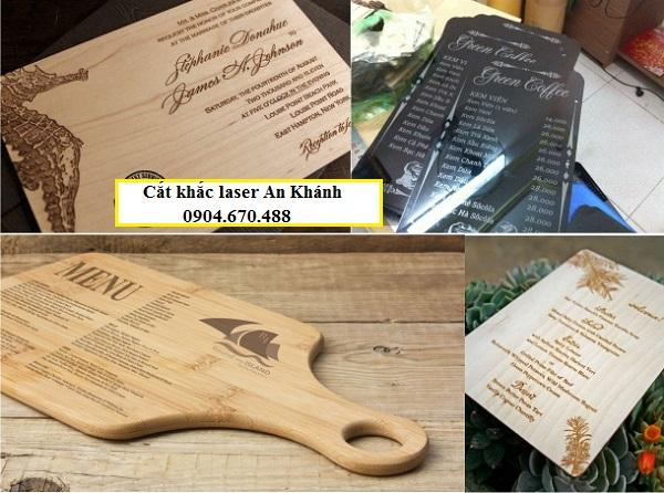 Mẫu menu gỗ độc đáo