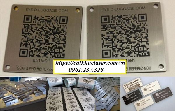 Các mẫu tem nhãn mác kim loại