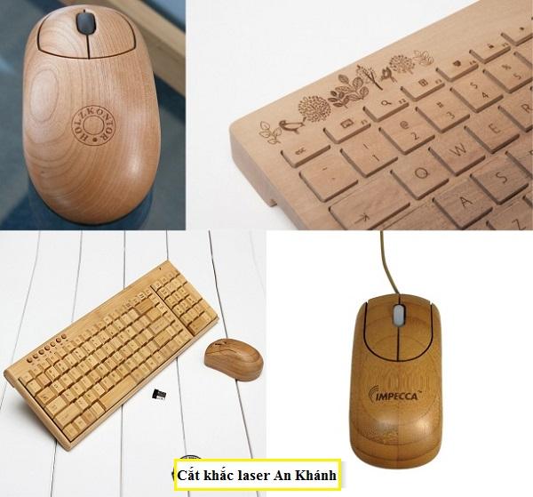 khắc chữ khắc tên lên bàn phím gỗ
