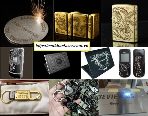 Khắc laser lên quà tặng chất liệu kim loại