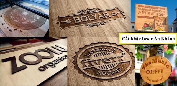 Khắc logo công ty, biển hiệu quảng cáo bằng gỗ