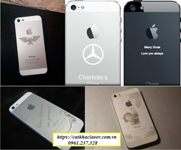 Khắc logo trên điện thoại