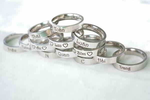 Dịch vụ khắc tên lên nhẫn theo yêu cầu tại An Khánh