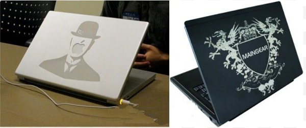 Khắc vỏ laptop, vỏ ipad máy tính bảng lấy ngay bằng công nghệ laser