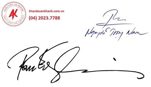 Dịch vụ khắc dấu chữ ký tại An Khánh Laser